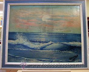 OLEO ORIGINAL FIRMADO GRANADOS SOBRE TABLA ESTÁ ENMARCADO (Arte - Pintura - Pintura al Óleo Contemporánea )