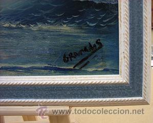 Arte: Oleo original firmado Granados sobre tabla está enmarcado - Foto 2 - 37759545