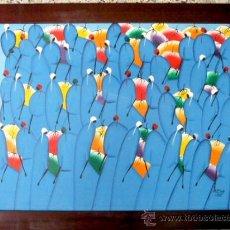 Arte: ÓLEO SOBRE TELA PEGADO A TABLA. PINTURA HAITIANA.. Lote 37859808