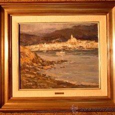 Arte: ÓLEO SOBRE TELA.JAUME MARINE I ALBAMONTE.(BARCELONA 1935).CADAQUÉS. Lote 171711039