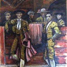 Arte: TOREROS - OLEO SOBRE OSB- FIRMADO. Lote 37842721