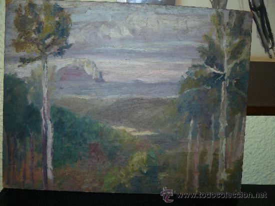 OLEO / CARTÓN - FDO. I DIAZ - 1921 - PAISAJE (Arte - Pintura - Pintura al Óleo Contemporánea )