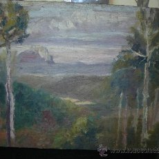 Arte: OLEO / CARTÓN - FDO. I DIAZ - 1921 - PAISAJE. Lote 37901999