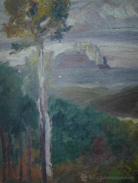 Arte: OLEO / CARTÓN - FDO. I DIAZ - 1921 - PAISAJE - Foto 2 - 37901999