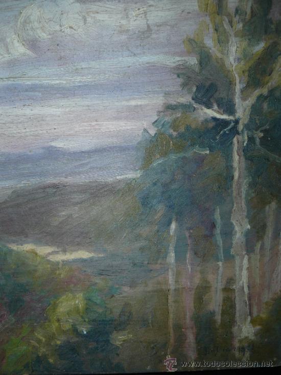 Arte: OLEO / CARTÓN - FDO. I DIAZ - 1921 - PAISAJE - Foto 3 - 37901999