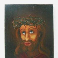 Arte: ECCE HOMO JESUCRISTO - OLEO 1969 PARIS DE 1968. Lote 37943123