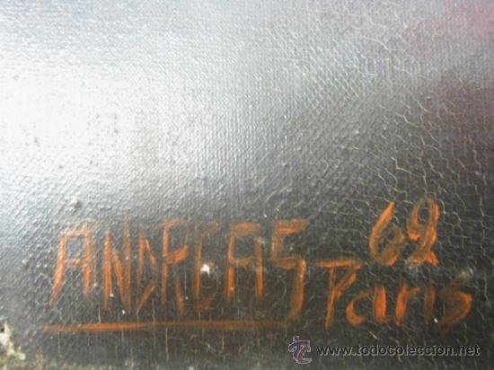Arte: Ecce Homo Jesus - Interesante Pintura al oleo firmada en Paris 1969 - Foto 4 - 37943123