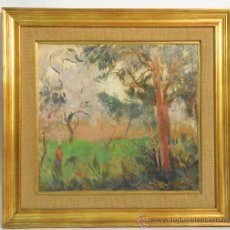 Arte: OLEO SOBRE TELA, TEMA PAISAJE, FIRMADO ALEXANDRE DE CABANYES (1877-1972). Lote 37951691