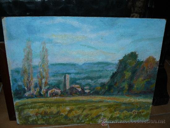OLEO / CARTÓN - ILEGIBLE, (PARETS?) - PAISAJE (Arte - Pintura - Pintura al Óleo Contemporánea )