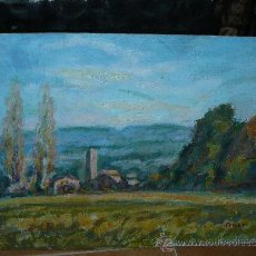 Arte: OLEO / CARTÓN - ILEGIBLE, (PARETS?) - PAISAJE. Lote 37981179