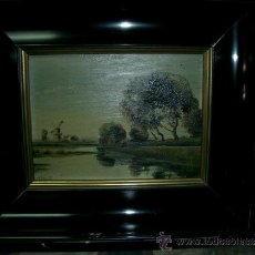 Arte: PAISAJE, OLEO SOBRE TABLA, FIRMADO S. LANO.. Lote 37991167