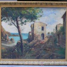 Arte: VISTA DE LA AMPOLLA, TARRAGONA, ÓLEO SOBRE LIENZO ENMARCADO 92X77CM. FIRMADO, . . Lote 38008192