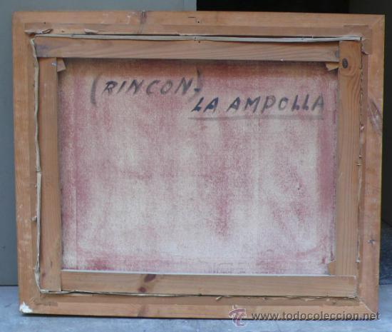 Arte: vista de la Ampolla, Tarragona, óleo sobre lienzo enmarcado 92x77cm. Firmado, . - Foto 2 - 38008192