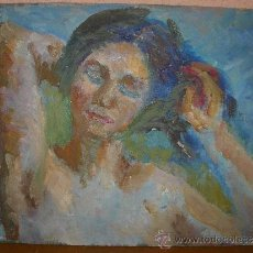 Arte: OLEO / TABLEX - M.G.S. (REVERSO) - RETRATO FEMENINO. Lote 38020856