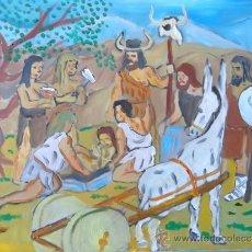 Arte: PREHITORIA CULTURA DEL ARGAR ,ENTIERRO ,ÓLEO SOBRE TABLA DE 30X40 CM. CRESPO. Lote 38028285
