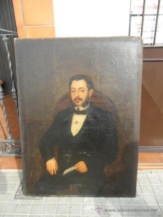 RETRATO POR AUGUSTO MANUEL DE QUESADA AÑO 1860 (Arte - Pintura - Pintura al Óleo Antigua siglo XVIII)