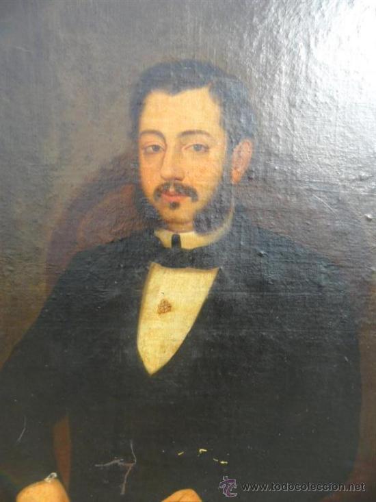 Arte: retrato por Augusto Manuel de Quesada año 1860 - Foto 2 - 38061697