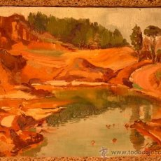 Arte: ÓLEO SOBRE TELA DEL PINTOR SALVADOR ARÍS(RUBÍ 1919).. Lote 38099347