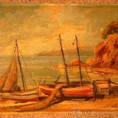 Arte: ÓLEO SOBRE TABLA.J.ALSINA.ESCUELA CATALANA.. Lote 39238984