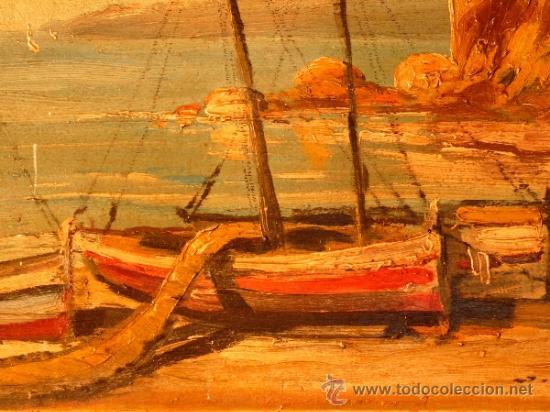Arte: óleo sobre tabla.J.Alsina.Escuela catalana. - Foto 3 - 39238984