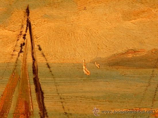 Arte: óleo sobre tabla.J.Alsina.Escuela catalana. - Foto 4 - 39238984
