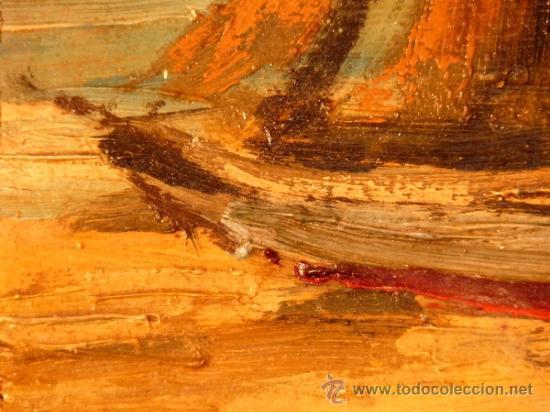 Arte: óleo sobre tabla.J.Alsina.Escuela catalana. - Foto 5 - 39238984