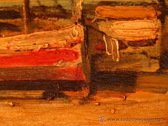 Arte: óleo sobre tabla.J.Alsina.Escuela catalana. - Foto 6 - 39238984