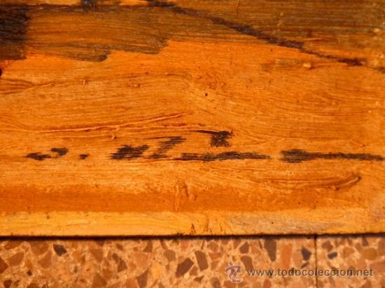 Arte: óleo sobre tabla.J.Alsina.Escuela catalana. - Foto 7 - 39238984