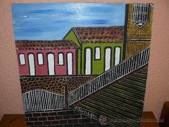 OLEO / TABLEX CON RELIEVE - FIRMADO AGNI - FACHADAS (Arte - Pintura - Pintura al Óleo Contemporánea )