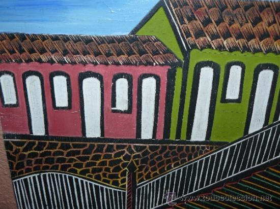 Arte: OLEO / TABLEX CON RELIEVE - FIRMADO AGNI - FACHADAS - Foto 2 - 38094643