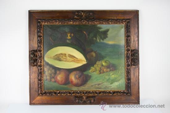 C3-042. ANDRÉS CARCELLER NUÑEZ (1894-1969) BODEGÓN OLEO SOBRE LIENZO (Arte - Pintura - Pintura al Óleo Contemporánea )