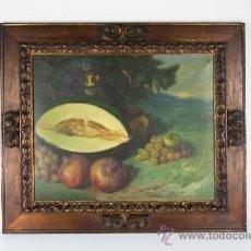 Arte - C3-042. ANDRÉS CARCELLER NUÑEZ (1894-1969) BODEGÓN OLEO SOBRE LIENZO - 38116775