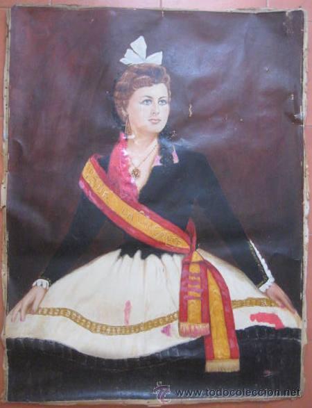 OLEO EPOCA ISABEL II. - REINA DEL CONGRESO - ENVIO CERTIFICADO GRATIS¡¡¡ (Arte - Pintura - Pintura al Óleo Antigua sin fecha definida)