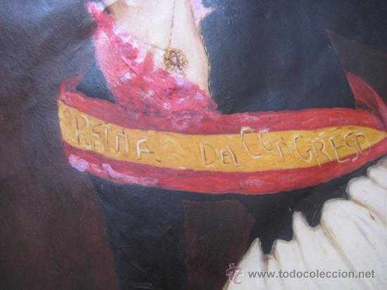 Arte: OLEO EPOCA ISABEL II. - REINA DEL CONGRESO - ENVIO CERTIFICADO GRATIS¡¡¡ - Foto 4 - 38122493