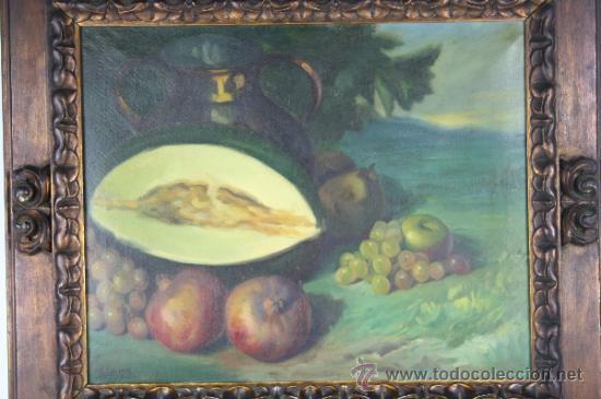 Arte: C3-042. ANDRÉS CARCELLER NUÑEZ (1894-1969) BODEGÓN OLEO SOBRE LIENZO - Foto 2 - 38116775