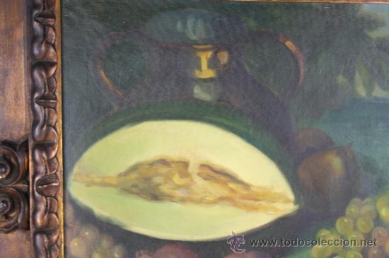 Arte: C3-042. ANDRÉS CARCELLER NUÑEZ (1894-1969) BODEGÓN OLEO SOBRE LIENZO - Foto 3 - 38116775