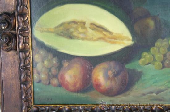 Arte: C3-042. ANDRÉS CARCELLER NUÑEZ (1894-1969) BODEGÓN OLEO SOBRE LIENZO - Foto 4 - 38116775