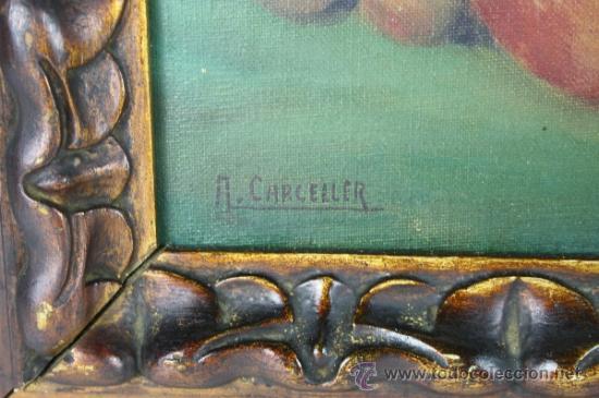 Arte: C3-042. ANDRÉS CARCELLER NUÑEZ (1894-1969) BODEGÓN OLEO SOBRE LIENZO - Foto 7 - 38116775