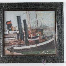 Arte: CUADRO OLEO SOBRE TABLA ENMARCADO, TEMA MARINA, FIRMADO ROCAMORA AÑO 1928. Lote 38130274