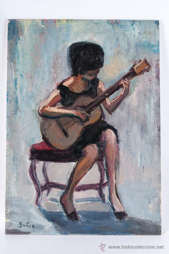 CUADRO OLEO SOBRE PAPEL Y SOBRE TABLA, FIRMADO SUÑER (Arte - Pintura - Pintura al Óleo Contemporánea )