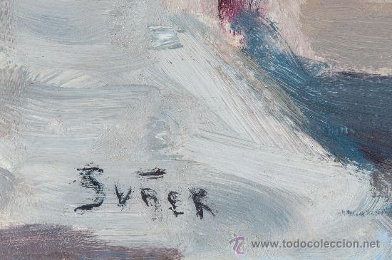 Arte: CUADRO OLEO SOBRE PAPEL Y SOBRE TABLA, FIRMADO SUÑER - Foto 3 - 38156008