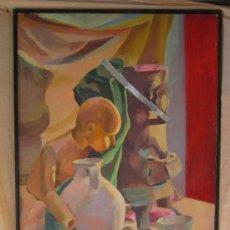 Arte: OLEO ORIGINAL FIRMADO SOBRE TABLE. Lote 38186269