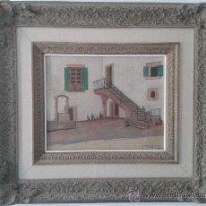 Arte: OLEO: PATIO. ' M. FERRER R - RODA.' 1948 FORMATO: 6F (41 X 33 CM). Lote 38358594