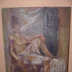 Arte: OLEO / TABLEX - FDO M.G.S. - DESNUDO FEMENINO. Lote 38383918