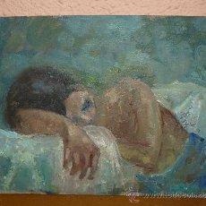 Arte: OLEO / TABLILLA ENTELADA - M GARCÉS - RETRATO FEMENINO . Lote 38383955