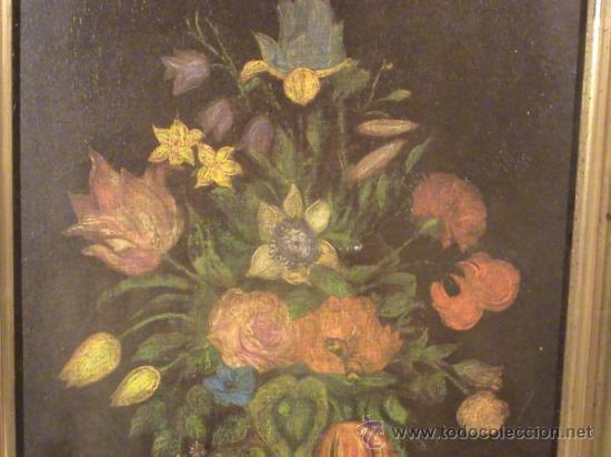 Arte: Bodegón de Flores sin firma. - Foto 2 - 38424975