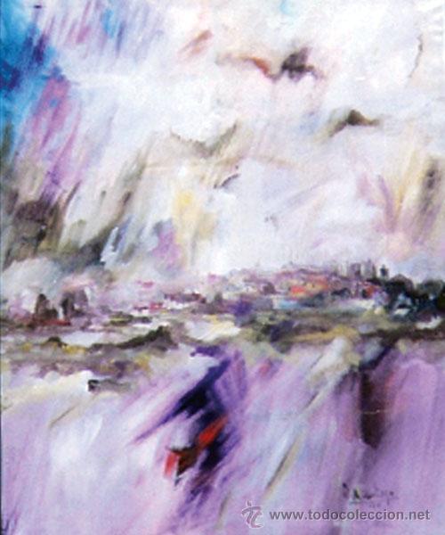 ROSENDO DE SANTIAGO GALLARDO.(C.REAL 1936-2013)GRAN MURAL IMPRESIONISTA OLEO S/ LIENZO 110 X 116 CM. (Arte - Pintura - Pintura al Óleo Contemporánea )