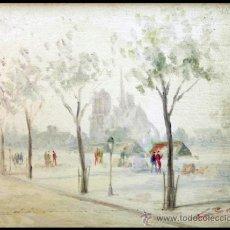 Arte: PRECIOSA PINTURA DE PARIS, FIRMADA E. BARRE. Lote 38433908