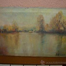 Arte: OLEO N/ TELA - FDO. J VILARDEBÓ - PAISAJE. Lote 38447446