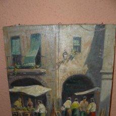 Arte: OLEO / TELA - J PIJOAN - MERCADILLO. Lote 38534702